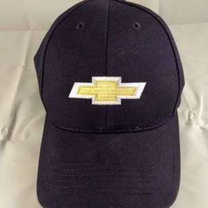 Other - Chevy Logo Hat Navy with Gold Logo Adjustable